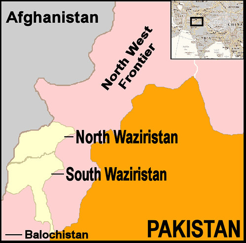 Pakistan-Waziristan-Map