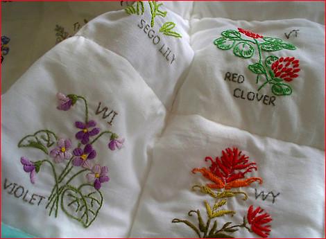 State Flower Quilt - turkeyfeathers.typepad.com