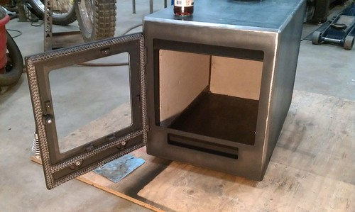 My primary air control is in the door so I also needed to seal this to the  air inlet in the front of the fire box. - Wood Stove W/ Secondary Combustion. - OFN Forums