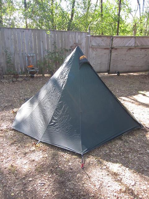 Go-Lite Shangri La 3 Pyramid Tent w/ bug-net pole and hiking pole adapter & For Sale...Go-Lite Shangri La 3 Pyramid Tent w/ bug-net pole and ...