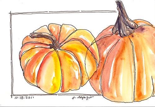 pumpkin continuous line