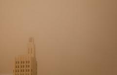 Santa Monica (manuelm) Tags: california ca slr clock fog canon photography haze santamonica dslr niebla relog canon5d2