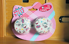 Hello Kitty Cake Cases (Jay Tilston) Tags: hello pink cooking cake paper baking kitty sanrio muffin cases licenced