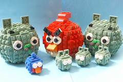 Angry Birds (SavaTheAggie) Tags: sculpture bird birds lego angry angrybirds
