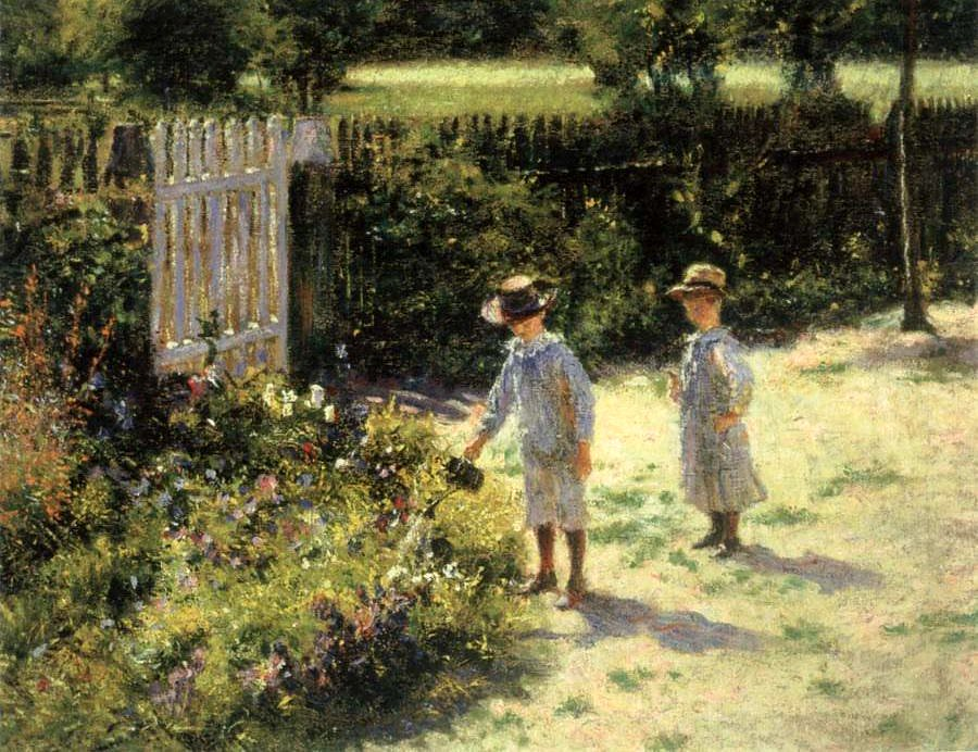 Podkowinski, Wladyslaw (1866-1895) - Children in the Garden