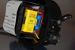 Nemrod Siluro - Right view inside front, with film loaded