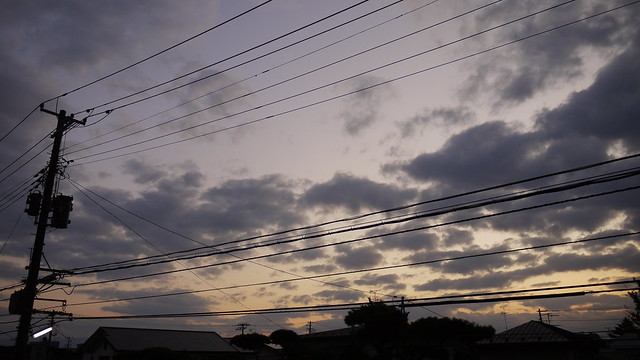 2011年10月27日、朝の空
