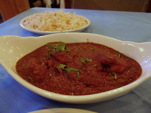 Chicken Phall and Rice