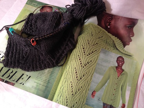 Cabled Cardigan, Vogue Fall 2011