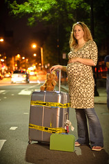 On the way to a new life (Werner Kunz) Tags: life street woman baby boston night lights nikon waiting traffic sb600 pregnant future dustindiaz strobist nikond90 werkunz1 peoplejanina