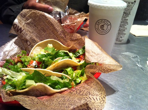 friday night tacos at chipotle
