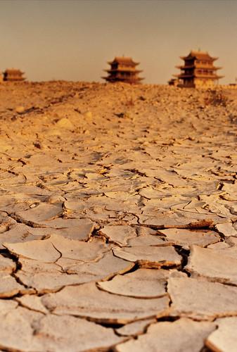 無料写真素材, 自然風景, 砂漠, 風景  中国・中華人民共和国, シルクロード, ゴビ砂漠