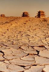 [フリー画像素材] 自然風景, 砂漠, 風景 - 中国・中華人民共和国, シルクロード, ゴビ砂漠 ID:201111041200