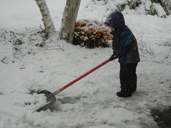 October snow shoveling