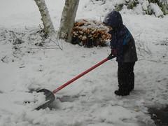 October snow shoveling