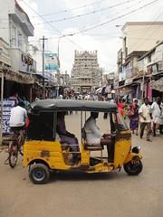 DSC03491 (Mathieu Castel) Tags: auto india temple sri rickshaw tamil trishaw nadu trichy ranga tiruchi ranganathaswamy tiruchirappalli