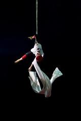 Floating (Miroslav Petrasko (hdrshooter.com)) Tags: show red white canon eos artist circus air performance floating sigma 7d handheld slovensko slovakia bratislava medrano 18200mm theodevil hrshooter