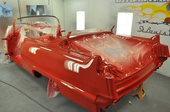 "1956 Series 62 Red Convertible Cadillac restoration • <a style=""font-size:0.8em;"" href=""http://www.flickr.com/photos/85572005@N00/6302988093/"" target=""_blank"">View on Flickr</a>"