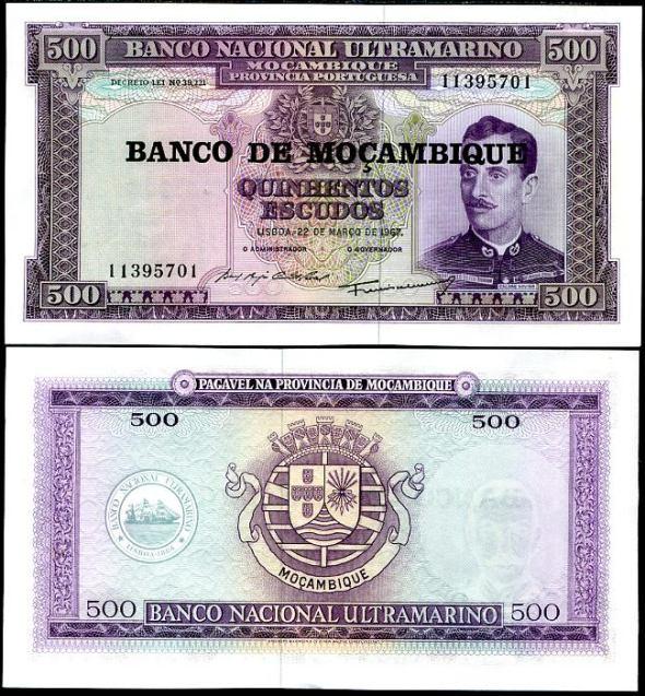 500 Escudos Mozambik 1976, Pick 118