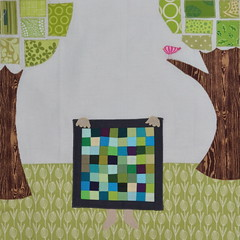 Block for Elizabeth (jenjohnston) Tags: appliqu miniquilt quiltingbee