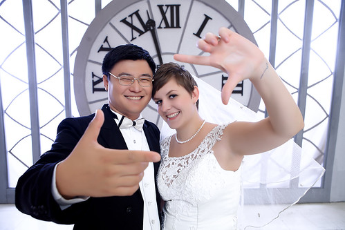 A Chinese groom and white American bride