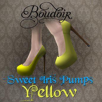 Sweet Iris Pumps Yellow - Boudoir, 200 lindens by Cherokeeh Asteria
