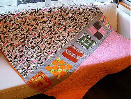 Olivia's quilt-back