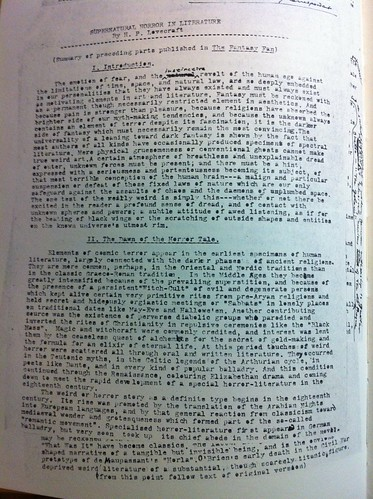 Lovecraft Typed Letter