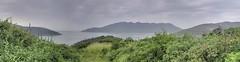 A view of the Atlantic Ocean from the hills of Arraial do Cabo (Frans Harren) Tags: sea brazil panorama mountain mountains water brasil riodejaneiro canon rj bra hills hdr canonpowershotg1 arraialdocabo powershotg1 ptgui 3exp exposurefusion