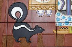 One Skunk (Sam Howzit) Tags: southwest art tile design 1971 mural florida indian disney 1970s waltdisneyworld skunk 4thfloor fourthfloor contemporaryresort maryblair nativeamerica grandcanyonconcourse