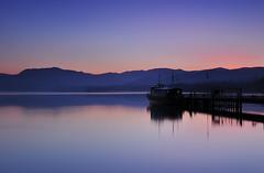 Ulluswater Jettey (untiedshoes1) Tags: longexposure sunset water night reflections jetty lakedistrict calm cumbria waterreflections ullswater pooleybridge