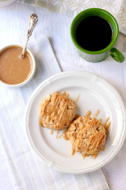 Caramel Apple Cinnamon Biscuits