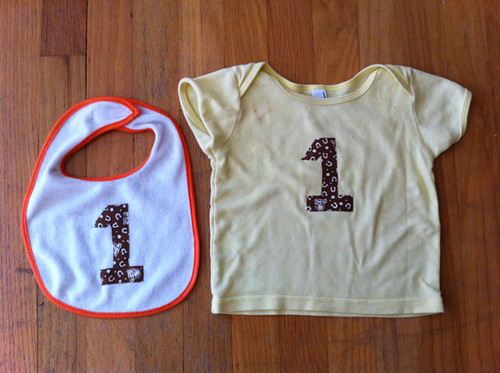 Everett's birthday bib + shirt!
