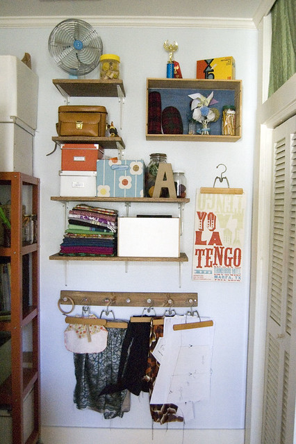 an organized craft room