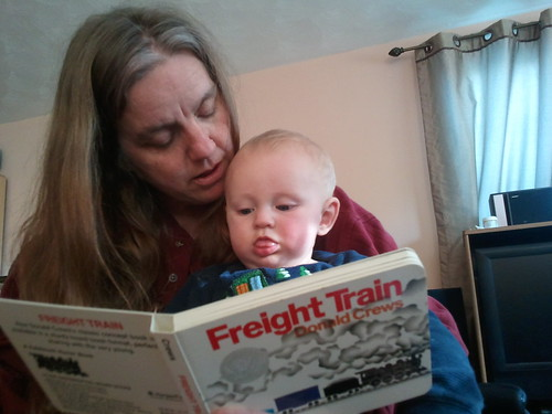 Mary reads Freight Train to Owen by caseyzero