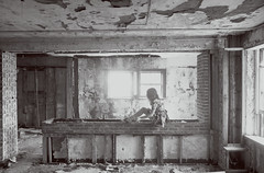 (yyellowbird) Tags: bw abandoned girl hospital small missouri cari stmarys ironton