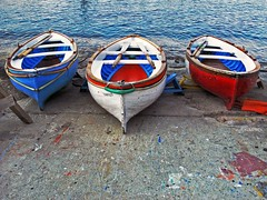 3 boats (Mr.  Mark) Tags: ocean blue deleteme5 red deleteme8 italy white 3 color colour deleteme deleteme2 deleteme3 deleteme4 deleteme6 deleteme9 art deleteme7 water painting capri three boat photo paint deleteme10 triple 111111 challengeyouwinner flickrchallengegroup markboucher