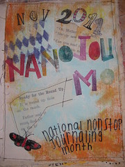 the cover of my canvas NaNoJouMo journal