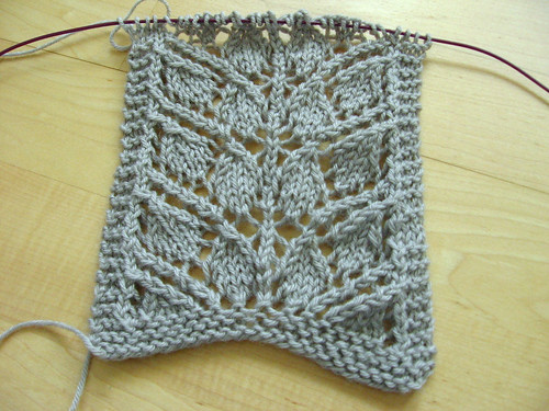 branching out scarf in progress