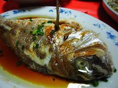 Steamed fish  (MelindaChan ^..^) Tags: china food dinner lunch yummy chinese mel eat steamed melinda retaurant gunagdong fishmeal huidong chanmelmel  melindachan
