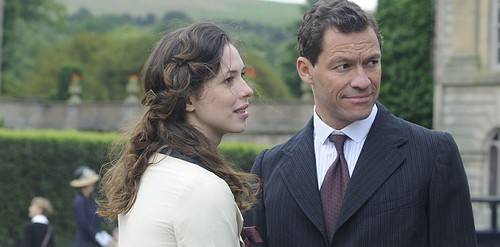 Picture shows: (L-R) REBECCA HALL as Florence Cathcart and DOMINIC WEST as Robert Mallory.TX: TBC.(c) Studio Canal/BBC 2011..THE AWAKENING is set in 1921, in a post-war world of loss where the bereaved seek solace in spiritualism.  Haunted by the death of
