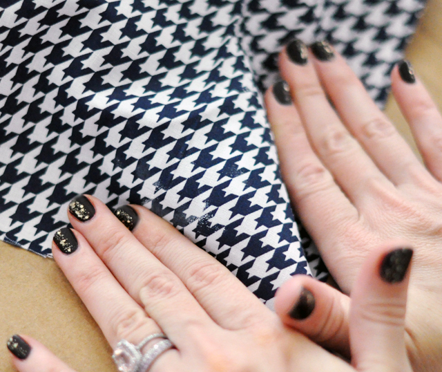 Houndstooth Shoes DIY - 11