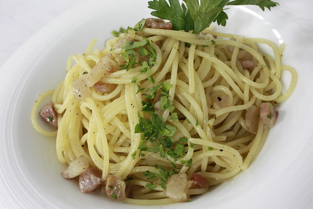 Pasta 2 - Spaghettini Carbonara Deconstruct