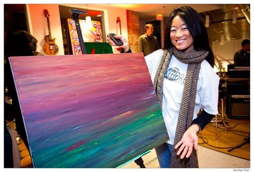 "My first ArtJamz painting ""Horizon"""