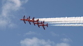 RIAT 2011, The Red Arrows, 5-high