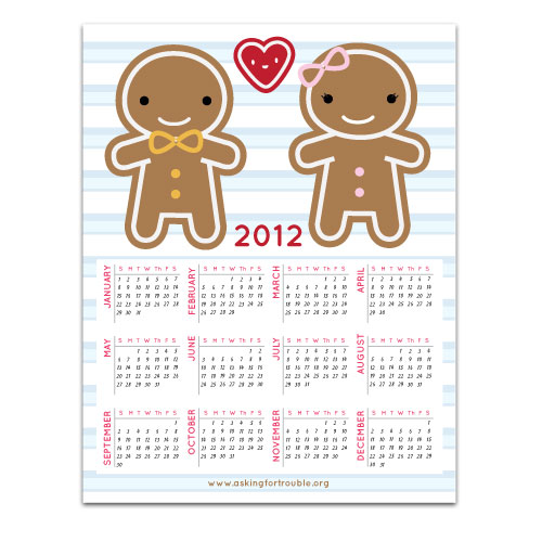 2012 Calendar Magnet