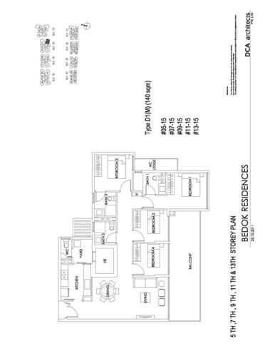 Bedok Residence 4BR Floorplan