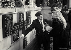 We Will Remember Them (slaup) Tags: plaque day remember poppy oldham remembrance veteran raf medals mantra towncentre serviceman