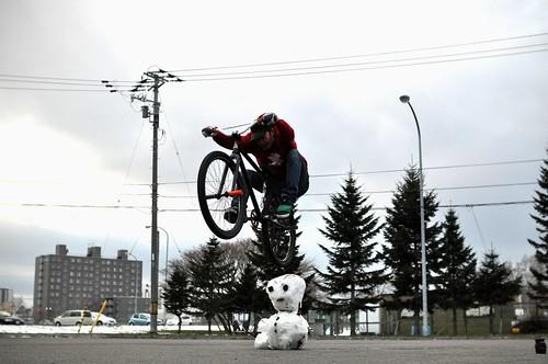 初雪後の初練習@b-zeo