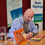 Nick Sharratt signing his picture books